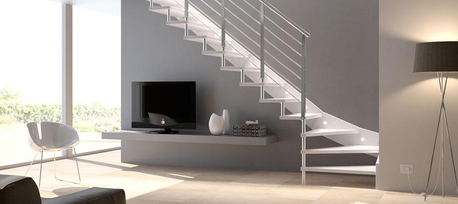 Scale su misura in legno allbos snc barletta bt - Immagini scale interne moderne ...